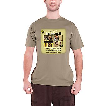 The Beatles Long & Winding Road Official Mens New Brown T Shirt