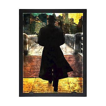 Glass vision-painting-art glass-Leonard Cohen Design Per Siwmark