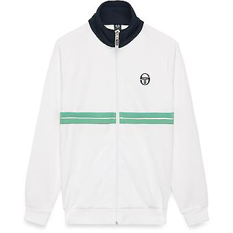 Sergio Tacchini Dallas Archivio Zip Front Track Top White/Quiet Green 84
