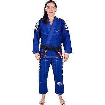 تاتامي ملابس القتال المرأة & s Estilo 6.0 قسط BJJ Gi - الأزرق / الأبيض