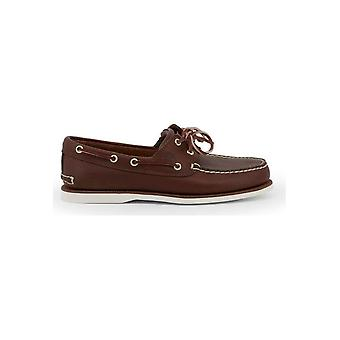 Timberland - Shoes - Moccasins - CLASSICBOAT_TB07403_52141_DKBROWN - Men - maroon,white - 41
