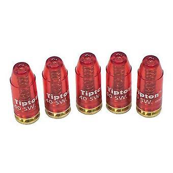 Tipton snap caps, 40 S & W kaliber, 5-Pack, pistool reinigings benodigdheden #745435