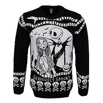 Unisex Nightmare Before Christmas Seriously Spooky Knitted Jumper