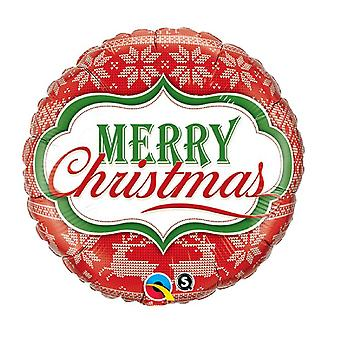 Qualatex Christmas Foil Balloon with Nordic Pattern