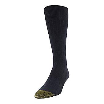 Gold Toe Men's Essential Rib Crew Socks, 1 Pair, navy, Shoe Size: 6-12.5