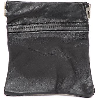 Unisex Real Leather Money Purse Wallet with Zipped Compartments