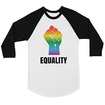 LGBT Igualdad arco iris Puño Bkwt Hombres Camiseta de Béisbol Navidad