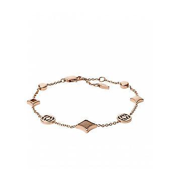 Fossil bracelet JF03192791 - CLASSICS Dor Rose Maille Milanese 21.6 cm Women's Steel
