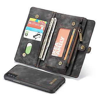For iPhone XS Max Case Black Leather Multiuse Case,11 Card Slots