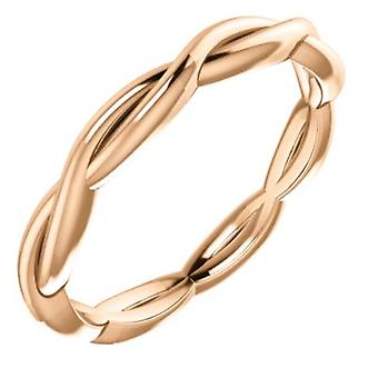 14k Rose Gold Size 7 Polished Infinity inspired Band Ring Jewelry Gifts for Women - 3.2 Grams