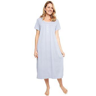 Cyberjammies 1365 ženy ' s Nora Rose Ellen Blue Fan Print bavlna pletené nočné šaty