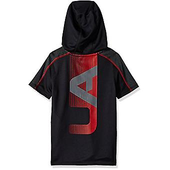 Under Armour Boys Tech Short sleeve Hoodie,, Black (001)/Red, Size Youth X-Large