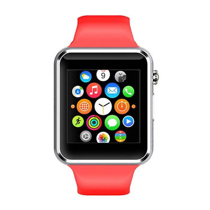 Stuff Certified® Original A1 / W8 Smartwatch Watch OLED Smartphone Android iOS Red