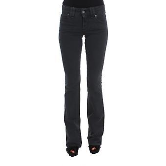 Galliano Blue Wash Cotton Blend Slim Fit Plain Bootcut Jeans