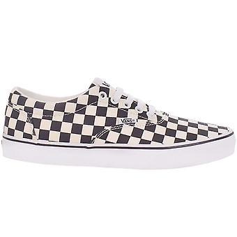 Vans Mens Doheny Checkered Low-Top Casual Canvas Trainers Sneakers - Black/White