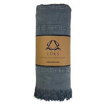 Luks linho taz cachecol - azul de pedra