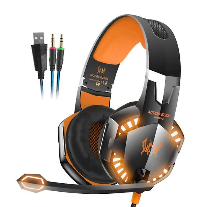Kotion Each EACH G2000 Stereo Gaming Headset Headset Headphones with Microphone Orange