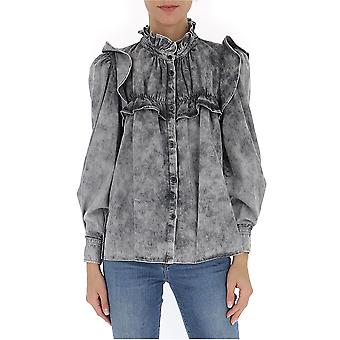 Isabel Marant ÉToile Ch061720p022e02fk Women's Black Cotton Shirt