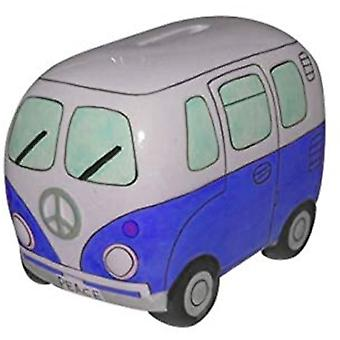Small Campervan Money Bank - Blue
