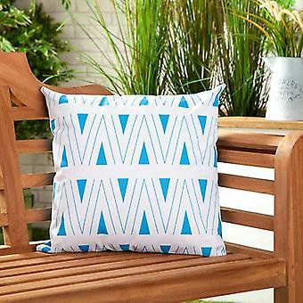 """Binaire Blue Water Resistant Outdoor Scatter Tuin meubelen gevuld kussen gedrukt 18"""" (45cm)"""