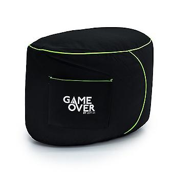 Jogo Sobre Fel Magic Video Gaming Bean Bag Foot Stool | Descanso da perna da sala de estar interior | Bolsos laterais para controladores | Design ergonômico para o Gamer Dedicado