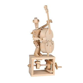 Timberkits Double Bass Kit - Wooden Moving Model Self Assembly Construction Gift