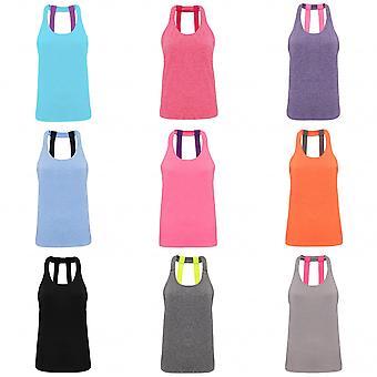 Tri Dri Womens/Ladies Double Strap Back Sleeveless Vest