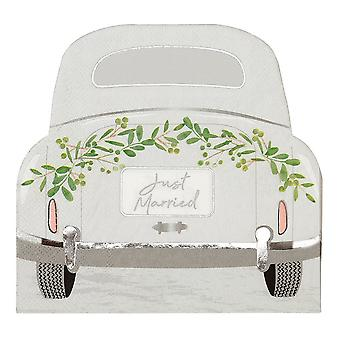 Botanical Just Married Car Wedding Floral Paper Party Napkins x 16