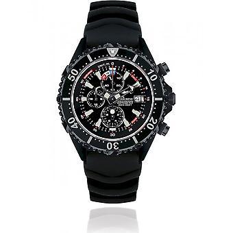 CHRIS BENZ - Diver's Watch Watch - DEPTHMETER CHRONOGRAPH 300M BLACK EDITION - CB-C300-LE-KBSS