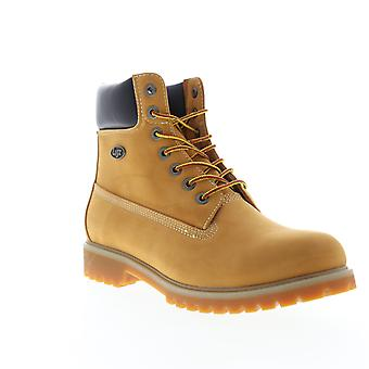 Lugz Convoy Wr  Mens Brown Nubuck Casual Dress Lace Up Boots Shoes