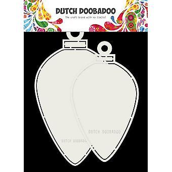 Dutch Doobadoo Card art Christmas baubles oval 120x210mm 470.713.730