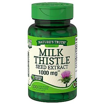 Nature's truth milk thistle seed extract, 1000 mg, quick release capsules, 100 ea