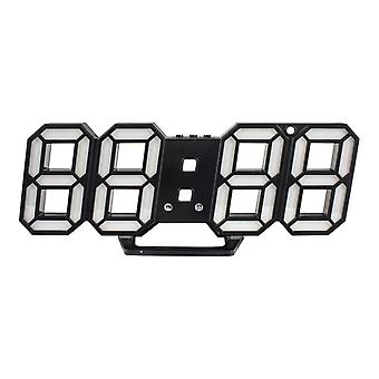 Digital 3D Clock - Black