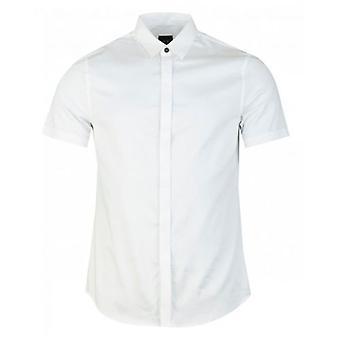 Armani Exchange Short Sleeved Slim Fit Poplin Shirt