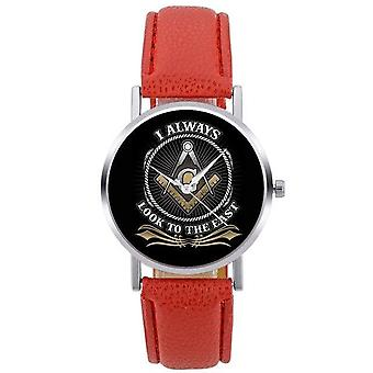 Look to the east masonic wristwatch