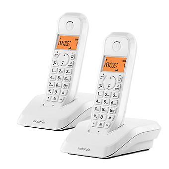 Telefon bezprzewodowy Motorola S1202 (2 szt.)/Czarny