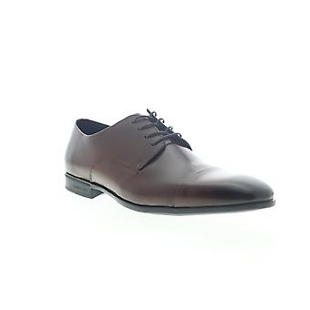 Kenneth Cole New York Regal Lace Up Mens Brown Dress Lace Up Oxfords Shoes