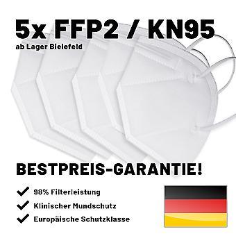 5x Ağız Maskesi FFP2 5 adet postage içermeyen ağızlık maskesi KN95 %95 filtreleme yeniden kullanılabilir