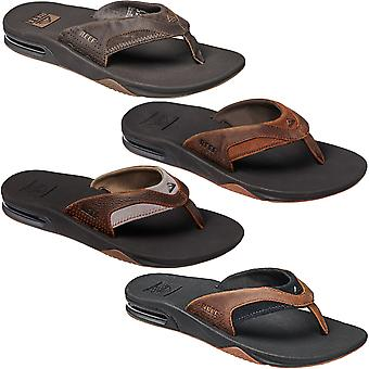 Reef Mens Leather Fanning Pool Beach Holiday Flip Flops Thongs Sandals