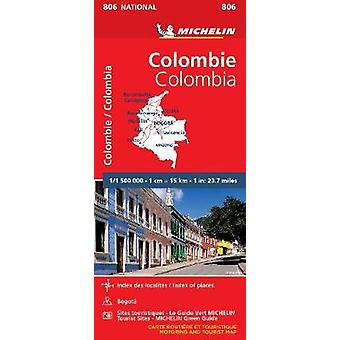 Colombia - Michelin National Map 806 - Map - 9782067242609 Book