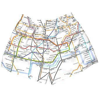Tfl301 tube carte boxeur shorts allover imprimer Londres souterrain