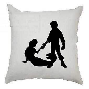 Silhouette Cushion Cover 40cm x 40cm Ariel