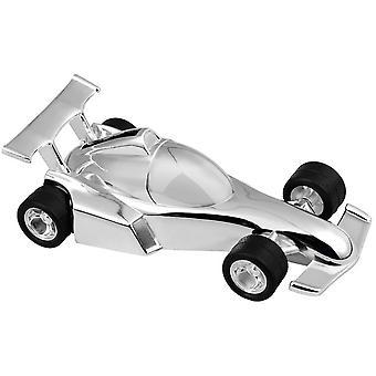 Orton West Racing Car Money Box - Silver