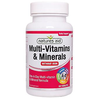 Nature's Aid Multi-Vitamins & Minerals (ohne Eisen) Tabletten 60 (128920)