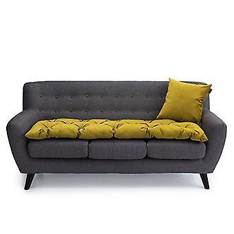 Loft 25 Lussuoso Velvet Tumeric 3 Seater Sofa Pad