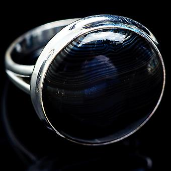 Psilomelane Ring Size 11.5 (925 Sterling Silver)  - Handmade Boho Vintage Jewelry RING5192