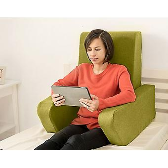 Cambio de sofás Una suave wool Effect Foam Reading Work Cushion Back Rest - Olive