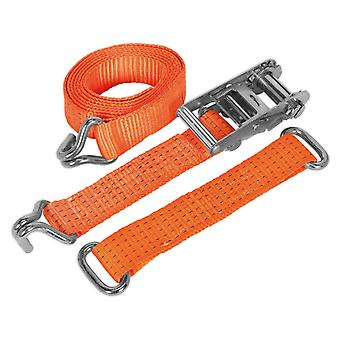 Sealey Tdrws auto Transporter Ratchet Tie Down 50 Mm X 3Mtr stalen wiel 4500Kg