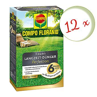 Sparset: 12 x COMPO Floranid® Lawn Long-Term Fertilizer Perfection, 2.5 kg