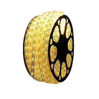 Jandei LED świecąca nić do ciepłej białej dekoracji, cewka 50m, instalacja zewnętrzna, IP65 wodoszczelny, 220-240V z prostownikiem, cięcie 0,5 m, Boże Narodzenie, impreza, impreza